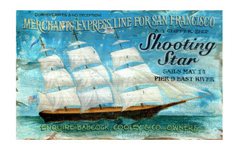 Custom Shooting Star Vintage Style Wooden Sign