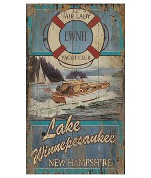 Custom Fair Lady Yacht Club Boating Vintage Style Wooden Sign