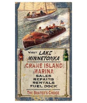 Custom Lake Minnetonka Boating Vintage Style Wooden Sign