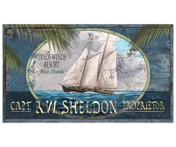 Custom Trade Winds Resort Key West Vintage Style Wooden Sign