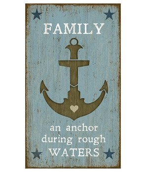 Custom Anchor with Family Saying Vintage Style Wooden Sign