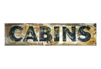 Custom Cabins Vintage Style Wooden Sign