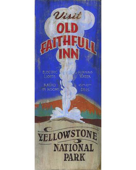 Custom Old Faithful Inn Vintage Style Wooden Sign