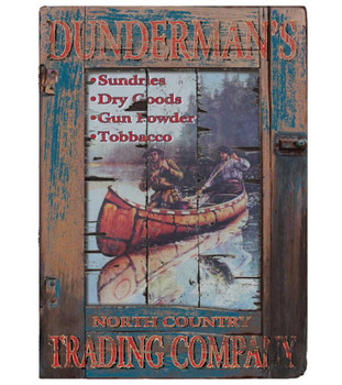 Custom Dundermans Trading Company Vintage Style Wooden Sign
