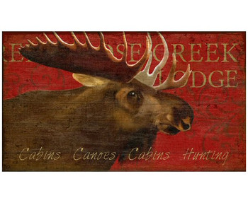 Custom Moose Creek Lodge Vintage Style Wooden Sign