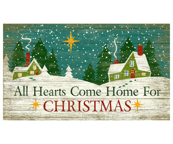 Custom All Hearts Come Home for Christmas Vintage Style Wooden Sign