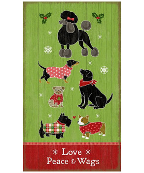 Custom Christmas Dogs Vintage Style Wooden Sign
