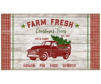 Custom Farm Fresh Christmas Trees Vintage Style Wooden Sign