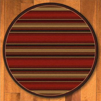 8' Santa Fe Stripe Southwest Round Rug