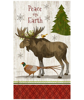 Custom Peace Christmas Moose Vintage Style Wooden Sign