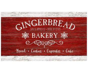 Custom Gingerbread Bakery Vintage Style Wooden Sign