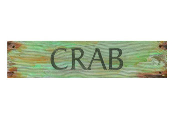 Custom Crab Vintage Style Wooden Sign