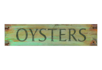Custom Oysters Vintage Style Wooden Sign