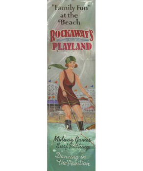 Custom Rockaways Playland Vintage Style Wooden Sign