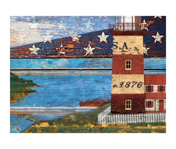 Custom Lighthouse Vintage Style Wooden Sign