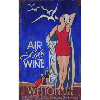 Custom Air Like Wine Vintage Style Wooden Sign
