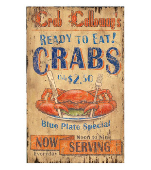 Custom Crab Calloway Vintage Style Wooden Sign