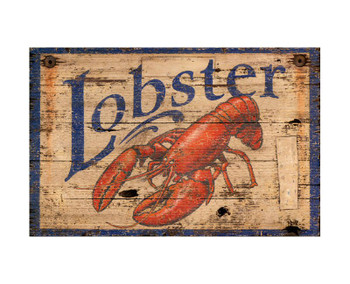 Custom Lobster Vintage Style Wooden Sign