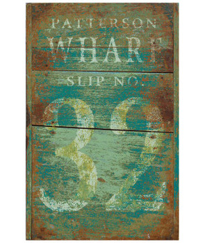 Custom Patterson Wharf Vintage Style Wooden Sign