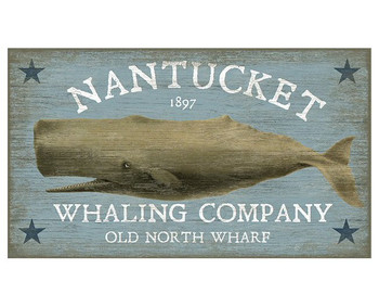 Custom Nantucket Whale Vintage Style Wooden Sign