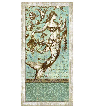 Driftwood Mermaid Vintage Style Wooden Sign