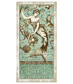 Classic Driftwood Mermaid Vintage Style Wooden Sign