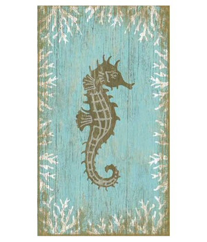 Seahorse Facing Right Vintage Style Wooden Sign