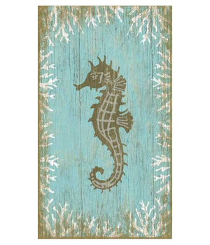 Seahorse Facing Left Vintage Style Wooden Sign