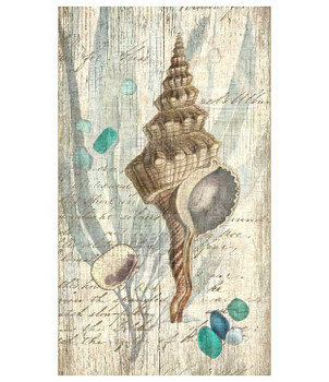 Classic Seashell Vintage Style Wooden Sign