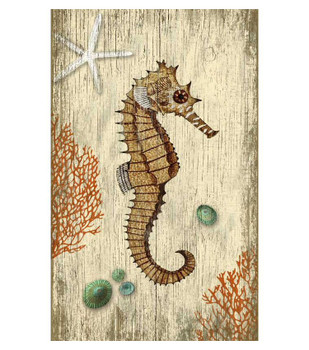 Rustic Seahorse Vintage Style Wooden Sign