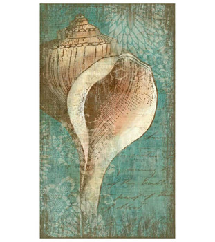 Bermuda I Tropical Seashell Vintage Style Wooden Sign