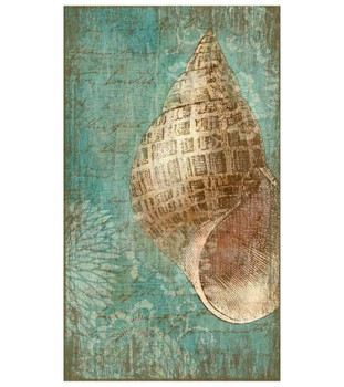 Bermuda II Tropical Seashell Vintage Style Wooden Sign