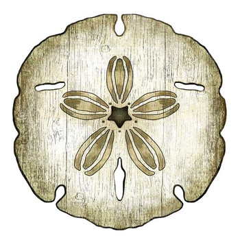 Sand Dollar Vintage Style Cutout Wooden Sign