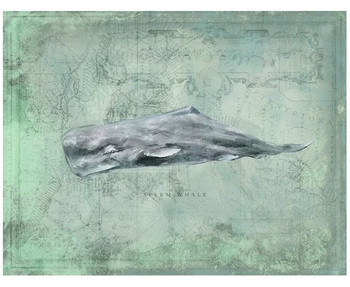 Custom Sperm Whale Vintage Style Wooden Sign