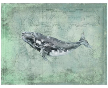 Custom Right Whale Vintage Style Wooden Sign