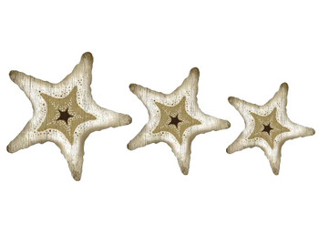 Starfish Vintage Style Cutout Wooden Signs, Set of 3