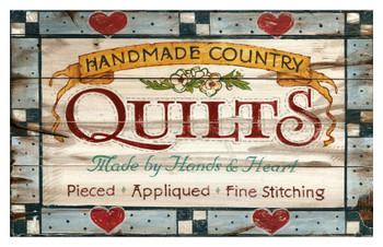 Custom Vintage Town Quilts Vintage Style Wooden Sign