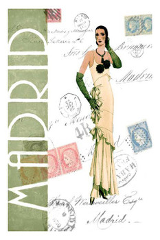 Custom Madrid Fashion Vintage Style Wooden Sign