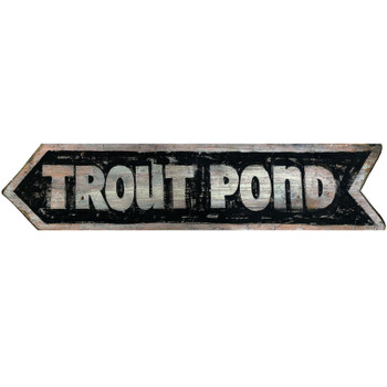 Custom Trout Pond Vintage Style Wooden Sign