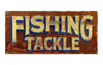 Custom Fishing Tackle Vintage Style Wooden Sign