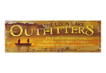 Custom The Loon Lake Outfitters Vintage Style Wooden Sign