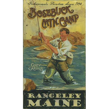 Custom Bosebuck Mtn Camp Vintage Style Wooden Sign
