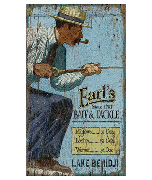 Custom Lake Bemidji Fishing Vintage Style Wooden Sign