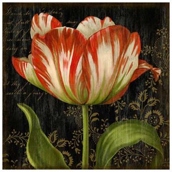 Dutch Tulip I Vintage Style Wooden Sign