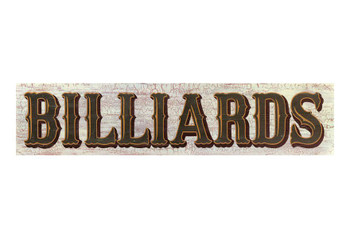 Custom Billiards Vintage Style Wooden Sign