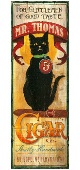 Custom Mr. Thomas Cigar Vintage Style Wooden Sign