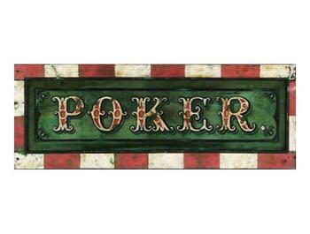 Custom Poker Vintage Style Wooden Sign