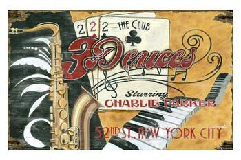 Custom Deuces Jazz Club Vintage Style Wooden Sign