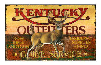 Custom Kentucky Outfitters Vintage Style Wooden Sign