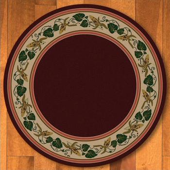 8' Three Sisters Garnet Cherokee Inspired Round Rug